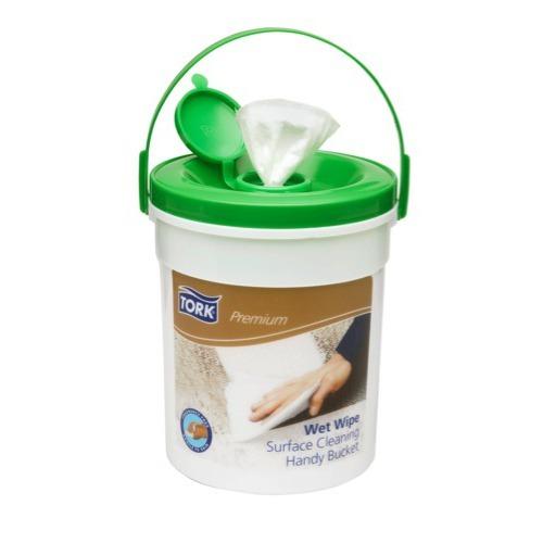 190594 Tork Premium Wet Wipe Surface Cleaning Handy Bucket