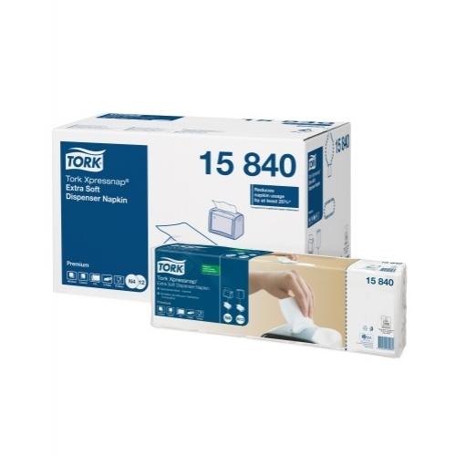 15840 Tork Xpressnap Extra Soft White Dispenser Napkin (N4)